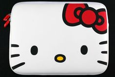 Hello Kitty Red Bow Laptop Case