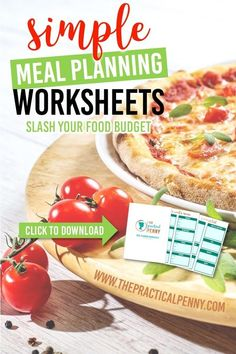 Ready to start your meal planning journey? Get the right tool-- these easy Meal Planning Worksheets will help you save money on food and groceries! Easy Family Meals, Frugal Meals, Cheap Meals, Budget Meals, Easy Meals, Food Budget, Frugal Recipes, Frugal Tips, Money Saving Meals