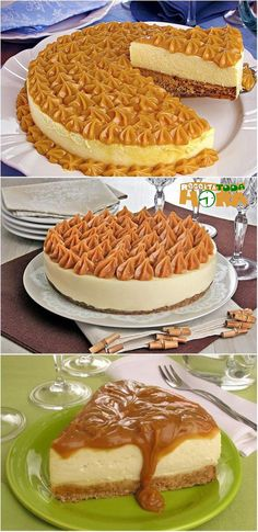 CheeseCake de Churros #CheeseCakedeChurros #CheeseCake #Receitatodahora Cheesecake Wedding Cake, Churro Cheesecake, Dessert Recipes, Desserts, Chocolate Recipes, How To Make Cake, Sweet Treats, Food And Drink, Yummy Food