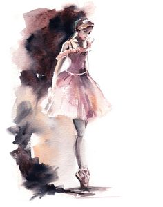 Ballerina in staubigen rosa und braun Fine Art Print, Ballett Tanz Aquarell Kunst, Ballerina moderne Wanddruck, Archiv Giclée-Druck - Dance art - Ballerina Kunst, Ballerina Painting, Watercolor Print, Watercolor Paintings, Watercolor Dancer, Art Ballet, Ballet Dance, Painting & Drawing, Modern Art