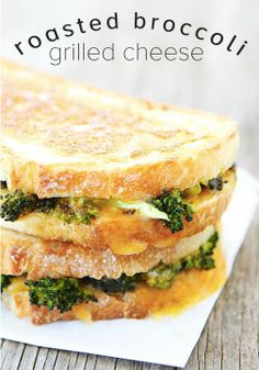 Roasted Broccoli Grilled Cheese Sandwich-the best way to eat your broccoli!