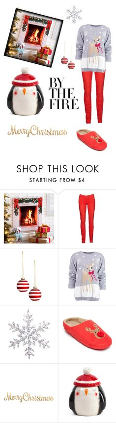 """""""Christmas Time"""" by kawaiipusheen00 ❤ liked on Polyvore featuring interior, interiors, interior design, home, home decor, interior decorating, Improvements, 7 For All Mankind, Boohoo and New Directions"""