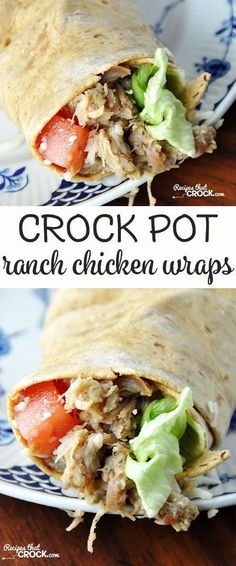 These Crock Pot Ranch Chicken Wraps are so easy and filled with flavor!