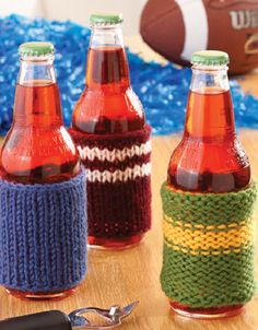 Knook™ Drink Cozies  #crochet #pattern