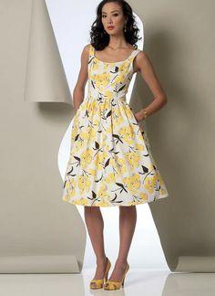 Vogue Dress Patterns, Vogue Sewing Patterns, Clothing Patterns, Diy Clothing, Vintage Clothing, Dirndl Skirt, Cute Dresses, Summer Dresses, Modest Dresses