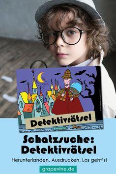 """Schatzsuche: Das Detektivrätsel 4-6 JahrePerfekt  zum Kindergeburtstag mit Detektivmotto: In Landhausen treibt Dieb  """"Halfanso"""" sein Unwesen und es passieren merkwürdige Dinge - wertvolle  Bücher verschwinden aus der Bibliothek. Der zerstreute Detektiv """"Konrad  An"""" der Stadt nimmt die Herausforderung an, die Bücher aufzuspüren. #detektivrätsel #detektivparty #krimidinnerkinder #krimispiele #geburtstag #kindergeburtstag #schatzsuche #schnitzeljagd"""