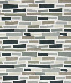 Robert Allen Tile Path Graphite Fabric - $48.85 | onlinefabricstore.net