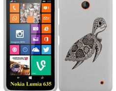 Nokia Lumia 635 Hard Case Cover - Cute Turtle