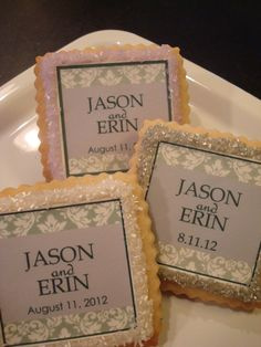 Custom Wedding Favor Shortbread Cookies Lavender by StoneHouseOven