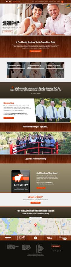 Point Family Dentistry - Responsive Dental Website Case Study | Roadside Dental Website #design #responsive #website #dental
