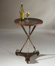 Golf Clubs Repurposed Heritage Walnut Wood Accent Table - Wood products and resin components. Repurposed Furniture, Home Furniture, Timber Furniture, Repurposed Items, Bedroom Furniture, Club Furniture, Building Furniture, Furniture Shopping, Furniture Outlet