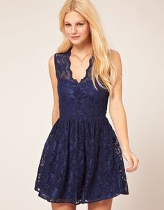 ASOS Skater Lace Dress$80