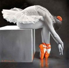 Ballerina zapatillas anaranjadas