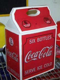 COCA COLA 6PK VINTAGE CARTON COOKIE JAR NEW