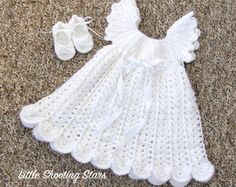 Bebé vestido de bautizo vestido de bautismo por LittleShootingStars
