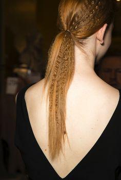 Hair Inspiration: Crimped Ponytails | Stella Mccartney S/S 2015