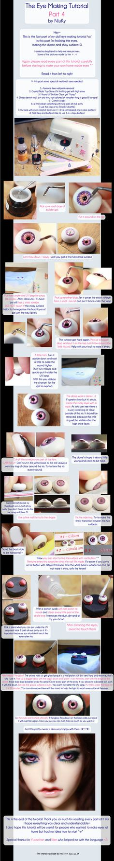 doll eye tutorial Not even sure where to pin this, or if I'd ever try to use it, but this is soooooo neat!