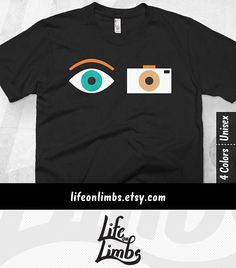 You capture life with your lens–it's your second eye. Or maybe you know a photographer or camera man who would love this graphic tee as a gift? Either way, this one's for you ;) Camera Man Gift for Photographer | Funny Graphic Tee | Women | Mens Shirt | Gift Ideas | Click through for colour options! >>>