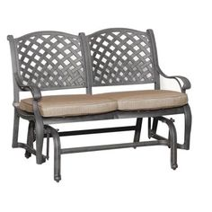 """World Source """"Moab"""" Collection Patio Glider Bench"""