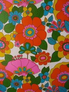 Vintage Gift Wrap..beautiful colors and patterns.  I'd love this in drapes or some accents for the home.
