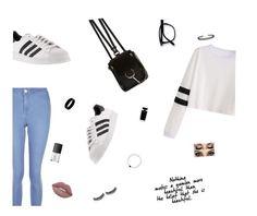 """Bored"" by aishamardini ❤ liked on Polyvore featuring New Look, adidas, Chloé, West Coast Jewelry, LULUS, Battington, Narciso Rodriguez and NARS Cosmetics"