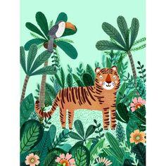Poster Tiger - PETIT MONKEY - Perlin Paon Paon