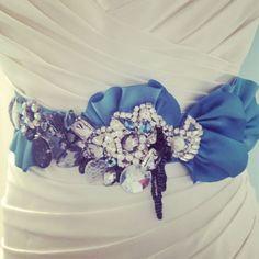 A sneak peek at Bridal Fashion Week. Bridal Show, Bridal Style, Blue White Weddings, Wedding Trends, Wedding Tips, Wedding Stuff, Wedding Dresses With Flowers, Amazing Wedding Dress, Dress Sash