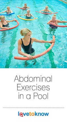 If you're looking for an effective ab routine to do while staying cool this summer, try abdominal exercises in a pool. You'll get an effective, safe, and low impact workout that will tone your abs right inside your bathing suit. Water Aerobics Routine, Water Aerobics Workout, Water Aerobic Exercises, Swimming Pool Exercises, Best Abdominal Exercises, Stretching Exercises, Ab Core Workout, Pool Workout, Ab Workouts