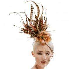 Arturo Rios Collection Gena Fascinator Hat Fascinator Headband 4d52b4e84aa