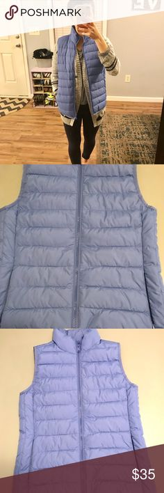 Jcrew Quilted Puffer Vest Light and comfy vest. In pristine condition. Only worn once or twice for several hours. I love the color and the vest but I never seem to reach for it in my closet. Not stains or tears. Size is XXS but can also fit an XS J. Crew Jackets & Coats Vests