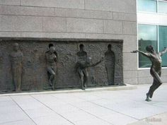 """I wanted to create a sculpture almost anyone, regardless of their background, could look at and instantly recognize that it is about the idea of struggling to break free.""  ~Zenos Frudakis-Sculptor"
