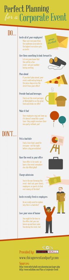 Perfect Planning for a Corporate #Event #Infographic                                                                                                                                                                                 More