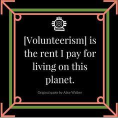 so humbled to give back.  National Volunteer Week April 12-19