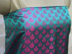 Brocade Fabric, Wedding Dress Fabric, Brocade Fabric by the Yard, Indian Silk Jacquard Fabric for vest Neck Ties, Costume fabric