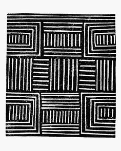African Pattern Handmade Art Print Black by Printerella on Etsy, £10.50