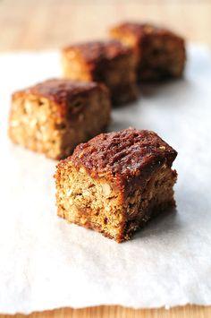 Oatmeal Walnut Caramel Coffee Cake Recipe   http://shewearsmanyhats.com/oatmeal-walnut-caramel-coffee-cake-recipe/