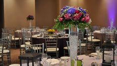 Purple and Pink Floral Centrepiece  www.tradesensation.com
