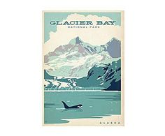 FLATIRON: Affiche papier, Glacier Bay - 42*60