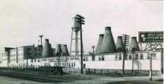 The West Coast Porcelain Manufacturers plant of Millbrae, CA circa 1928 where Thomas Gotham was employed from 1923 until 1931