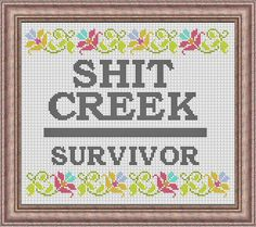 Survivor Cross Stitch Pattern PDF Instant Download Sarcastic Mature Rude profanity by HeritageStitch on Etsy