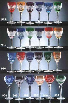 HAND CUT 24% LEAD CZECH CRYSTAL GLASS - Bohemian Glassworks, Crystal from Bohemia, Czech Republic.
