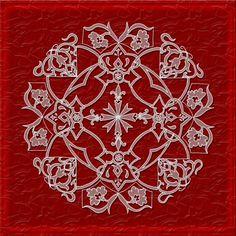 Deep Red Majestic Mandala - Fine Art Signed Print - Mandalamagic1 Original Mandala Art - Wall Decor - Elegant Decor