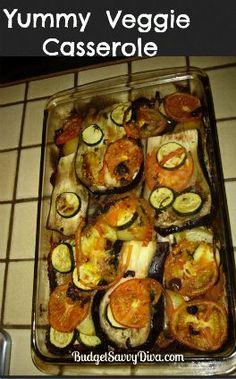 Yummy Veggie Casserole, #Casserole, #Gluten, #Vegetarian, #Veggie, #Yummy