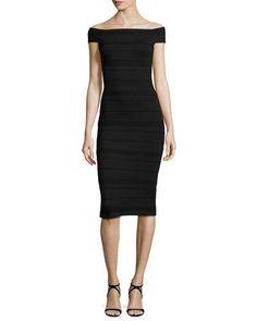 Inan Off-the-Shoulder Bardot Dress