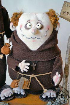 Коллекционные куклы ручной работы. Ярмарка Мастеров - ручная работа. Купить Два монаха. Handmade. Коричневый, авторская игрушка