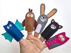 Hračky - Zvieratká 6. - prstové bábky - 9097117_ Handmade, Hand Made, Handarbeit