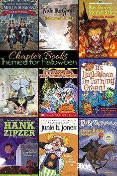 These chapter books for Halloween are a great way to get those kiddos loving to read! With fun and whimsical stories, your children are sure to bed for more! Halloween Stories For Kids, Halloween Words, Halloween Activities For Kids, Printable Activities For Kids, Preschool Activities, Halloween Fun, Monster Activities, Kids Chapter Books, Books For Moms