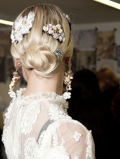 Backstage at Dolce and Gabbana Autumn/Winter 2012