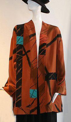 Alexis Abrams - Pieced Silk Coat