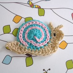 Cute Snail Crochet Applique - I can do this!